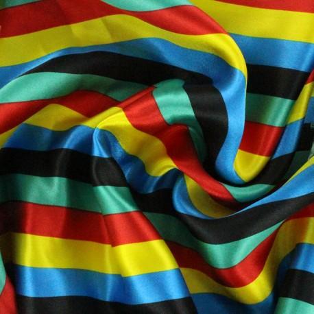 Tissu Crazy stripes - multi x 10cm