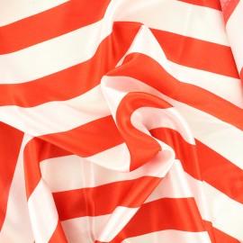 Crazy stripes fabric - red/white x 10cm