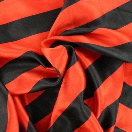 Crazy stripes fabric - red/black x 10cm