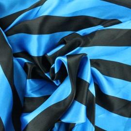 Crazy stripes fabric - blue/black x 10cm