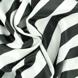 Crazy stripes fabric - white/black x 10cm