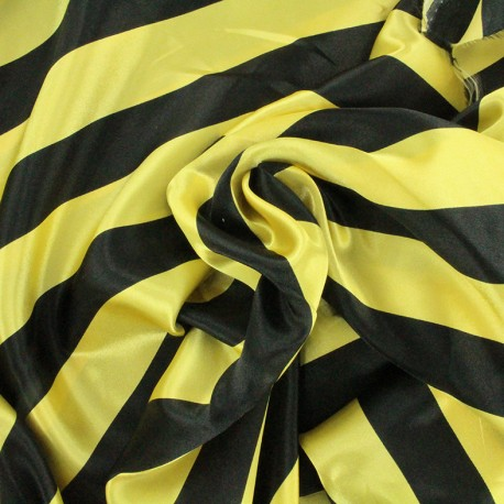 Crazy stripes fabric - gold/black x 10cm