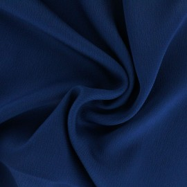 Plain embossed satin fabric - night blue x 10cm
