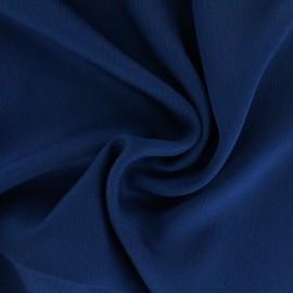 Tissu satin gaufré - bleu nuit x 10cm