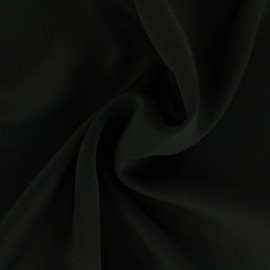 Plain embossed satin fabric - black x 10cm
