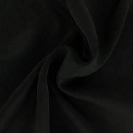 Tissu satin gaufré - noir x 10cm