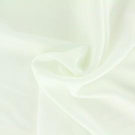 Tissu satin gaufré - blanc x 10cm
