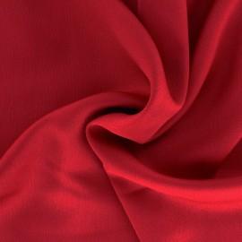 Tissu satin gaufré - rouge x 10cm