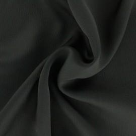 Plain embossed satin fabric - anthracite grey x 10cm