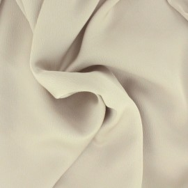 Plain embossed satin fabric - sand x 10cm