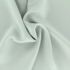 Plain embossed satin fabric - perle grey x 10cm