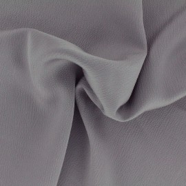 Plain embossed satin fabric - plomb grey x 10cm