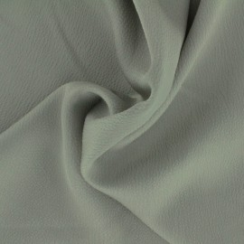 Plain embossed satin fabric - savage grey x 10cm
