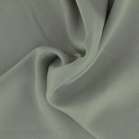 Plain embossed satin fabric - savage grey x 10cm