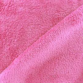 Tissu Piloudou uni - rose bonbon x 10cm