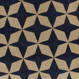 Tissu toile Psyché star marine/lin x 65 cm