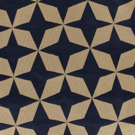 Canvas fabric Psyché star - navy x 10 cm