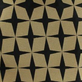 ♥ Coupon 150 cm X 140 cm ♥  Canvas fabric Psyché star - black/linen