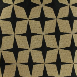 Cotton canvas fabric Psyché star - black x 10 cm