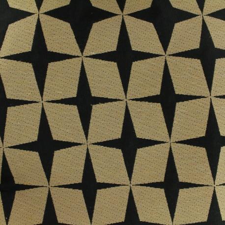 Tissu toile de coton Psyché star noir x 10 cm