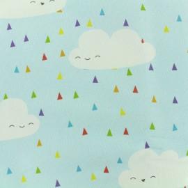 ♥ Coupon 279 cm X 280 cm ♥  Tissu toile coton grande largeur La fête des nuages - bleu