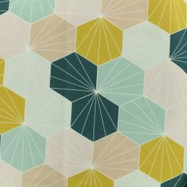 Tissu toile coton grande largeur Scandinave - multicolore x 19cm