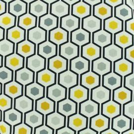 Tissu toile coton grande largeur Symétrique - multicolore x 10cm