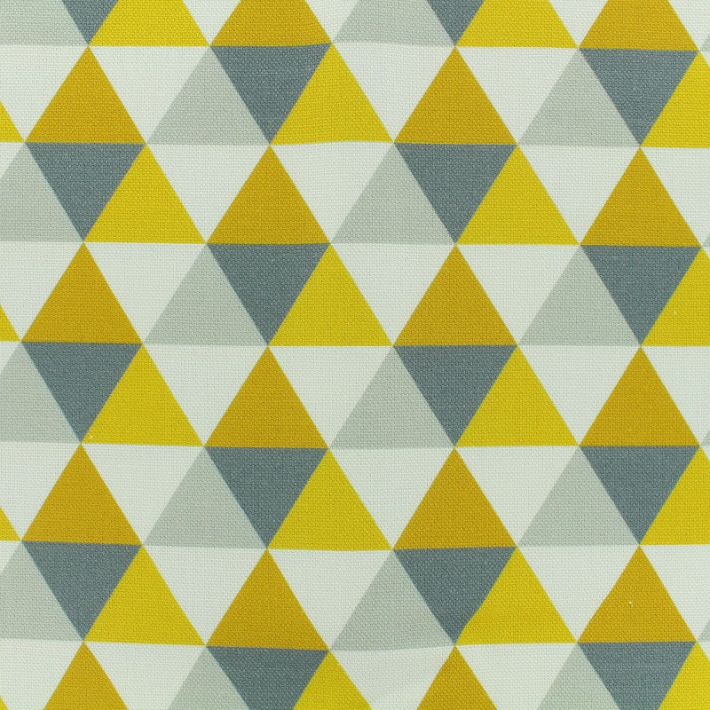 tissu toile coton grande largeur triangles scandinaves. Black Bedroom Furniture Sets. Home Design Ideas