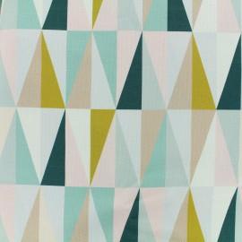 Tissu toile coton grande largeur Losanges scandinaves - multicolore x 15cm