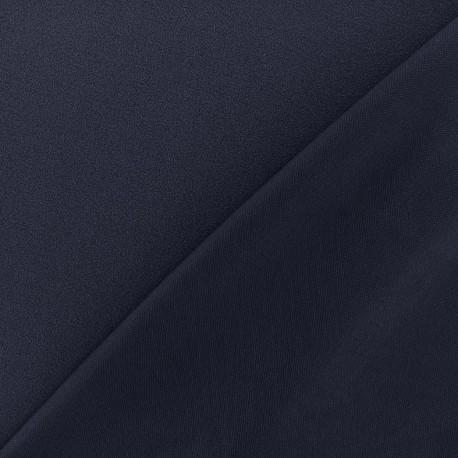 Tissu jersey crêpe - bleu nuit x 10cm