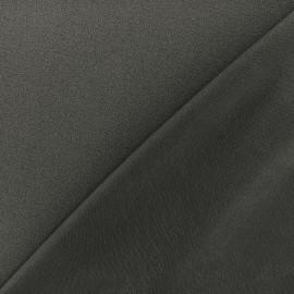 Tissu jersey crêpe - gris foncé x 10cm
