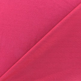Tissu jersey crêpe - fuchsia x 10cm