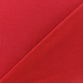 Crepe jersey fabric - carmine red x 10cm