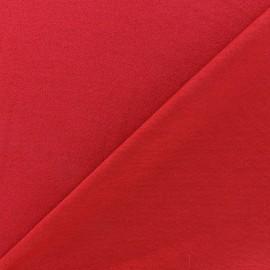 Tissu jersey crêpe - rouge carmin x 10cm