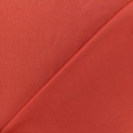 Tissu jersey crêpe - brique x 10cm