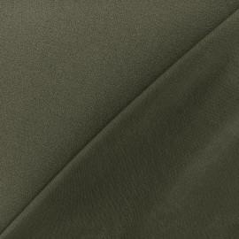 Tissu jersey crêpe - kaki foncé x 10cm