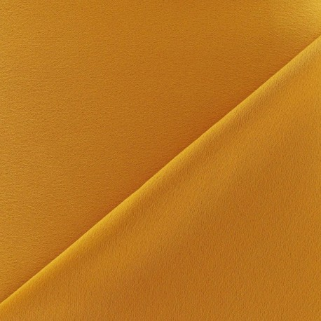 Tissu jersey crêpe - ocre x 10cm