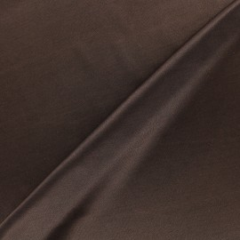 Lining jersey fabric - dark brown x 10cm