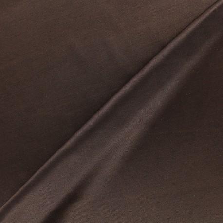 Lining jersey fabric - dark brown x 10cm