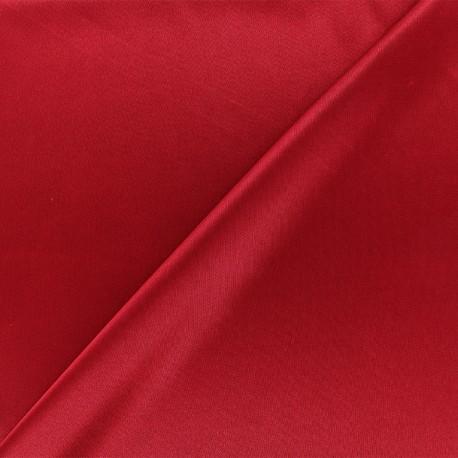 Tissu doublure jersey - rouge carmin x 10cm