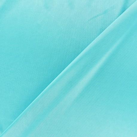 Lining jersey fabric - aigue-marine x 10cm