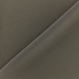 Crepe jersey fabric - dark taupe x 10cm
