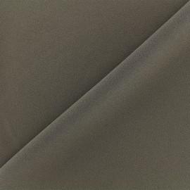Tissu jersey crêpe - taupe foncé x 10cm