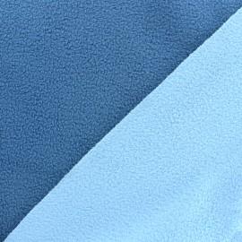 Reversible bicolor polar fabric - bleuet/sky blue x 10cm