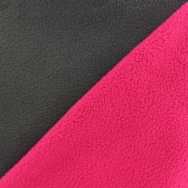 Reversible bicolor polar fabric - anthracite/fuchsia x 10cm