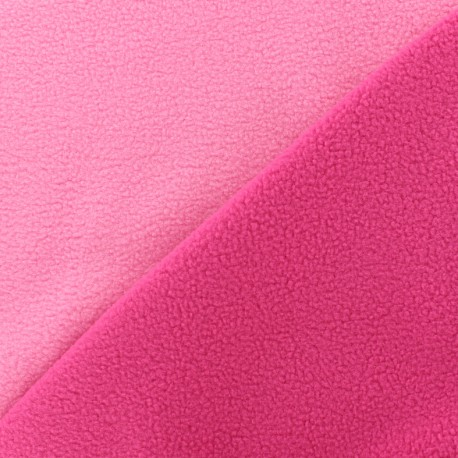Reversible bicolor polar fabric - fuchsia/pink x 10cm