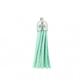 Buckskin Pompom - water green