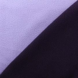 Reversible bicolor polar fabric - lilac/purple x 10cm