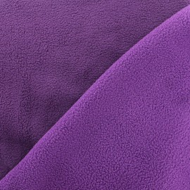 Reversible bicolor polar fabric - dark purple/purple x 10cm