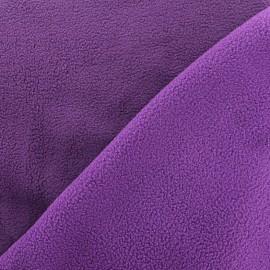Tissu polaire réversible bicolore - lilas/violet x 10cm